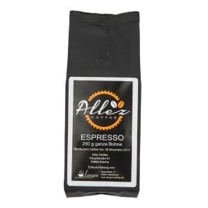 Allez Kaffee Espresso Ganze Bohne 250g