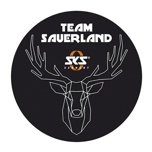 Team Sauerland Aufkleber Schwarz Mit Motivdruck Allez